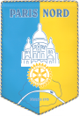 Fanion du Rotary-club de Paris-Nord